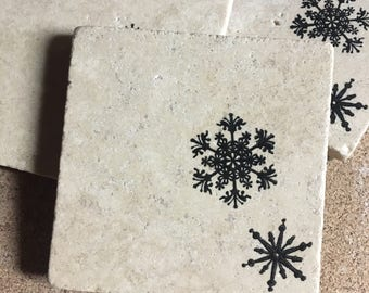 READY TO SHIP* Snowflake Coasters ~ Christmas Coasters ~ Winter Coasters ~ Drink  Coasters