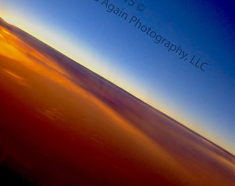Sunrise Over the Ozarks, Arkansas Photography, Aerial Photography, Abstract, Nature Decor, Colorful Home Decor, Blue Decor, Flight