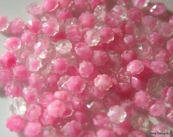 100 Tiny plastic flower beads