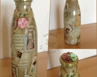 Bottle - Glass - decoration - design vintage