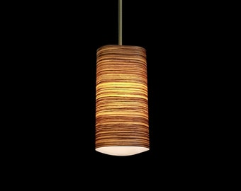"The ""Tri"" Pendant Light: wood lighting, veneer light, architectural lighting, modern lighting, contemporary lighting, transitional lighting"