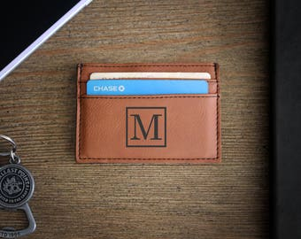 Leather Money Clip, Personalized Money Clip, Leather Wallet, Engraved Money Clip, Groomsmen Gift, Bachelor Party Gifts --LMC-RH-M