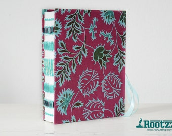 Handbound journal - artjournal - album - book- notebook - travelers notebook - fabric