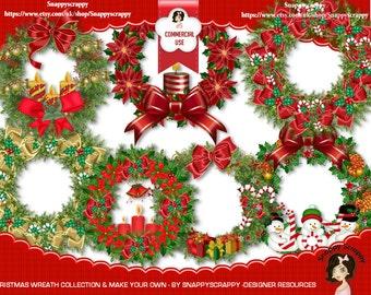 Christmas Wreaths, Scrap Kits, Digital Scrapbooking, Designer Resources, Christmas, Digital Elements, Christmas Decos, Digital Download