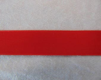 Double faced satin ribbon, red (S-0020)