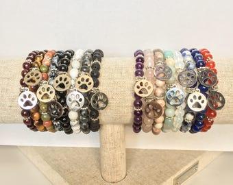 Mother's Day // Custom Paw Print Healing Bracelet