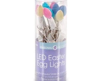 Darice Easter Decor - Flock Easter Egg LED Light Garland