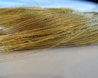 Vintage Japanese Tsumugi 24K Gold wrapped around green thread