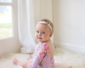 Sitter Photography Prop / Floral Stretch Romper / Australian Seller / 6-12 Months Sizing