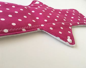 Heavy Cloth Pad | Cloth Pad | Overnight Pad| Pink Polka Dot | 12' Cloth Pad | Heavy Flow
