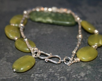 MAUI MISTIK Jade and Sterling Bracelet