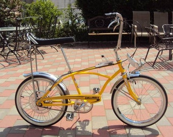 1960s Vintage Collectible Mint Bicycle Canary Yellow