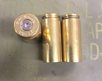 50 AE Brass Bullet Casings - Cleaned & Polished - 10 and 25 Count Available - Reloading or Craft