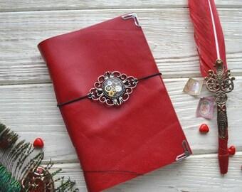 Writing Journal, Gift for Writer, Hand Painted Moleskine, Squid, Moleskine Journal, Cephalopod, Large, Notebooks Journal, Moleskine Notebook