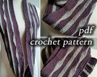 Crochet Pattern pdf - Infinite Lifelines Scarf