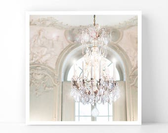 Paris Photography - Chandelier at the Soubise, 5x5 Paris Fine Art Photograph, French Home Decor, Wall Art, Gallery Wall