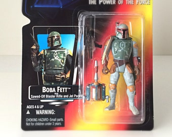 Star Wars Boba Fett Action Figure, 1995 Star Wars Empire Strikes Back Toy, May the 4th Gift, POTF Kenner Star Wars Figure Bounty Hunter