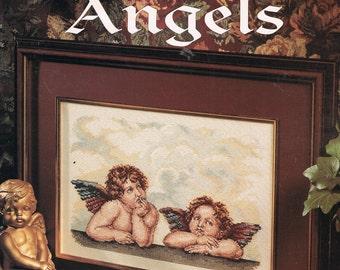 Raphael's Angels Counted Cross Stitch Pattern - Cherub Cross Stitch - Leisure Arts #2634