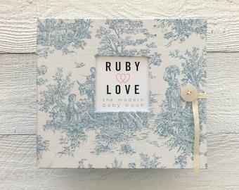 BABY BOOK | Vintage Blue Jamestown Album