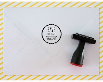 Custom rubber stamp // SAVE THE DATE ! // Wedding rubber stamp, name initials stamp, custom rubber stamp, save the date