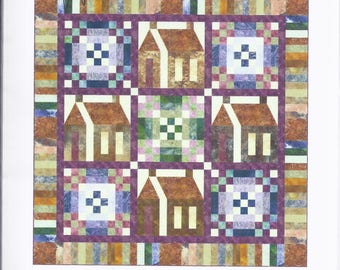 Kate Mitchell Quilts KMQ-223.  The Road Home  Size 74 inches square.  UNUSED