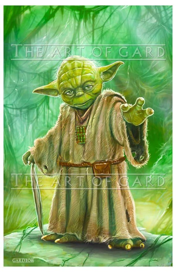 Yoda, from The Empire Strikes Back 11X17 high quality print