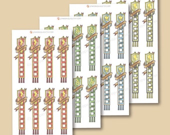 Harry Potter Houses Checklists - Harry Potter planner stickers, EC stickers, Personal Planners