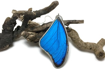 Real Butterfly jewelry, butterfly Wing Necklace, Blue Morpho Pendant, butterfly wing pendant, butterfly necklace