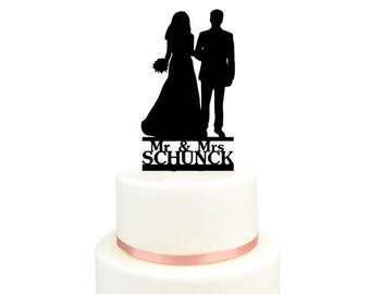 Cake Topper with bridal couple