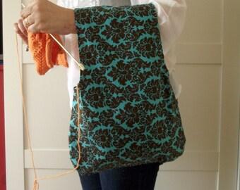 Wristlet Project Bag for Knitting Crochet Projects Wristlet Knitting Bag Yarn Bag Yarn Wrist Project Bag Christmas Gift for knitters #9