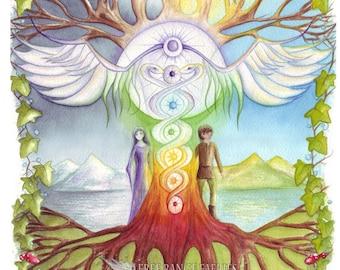 World Tree A4 Art Print