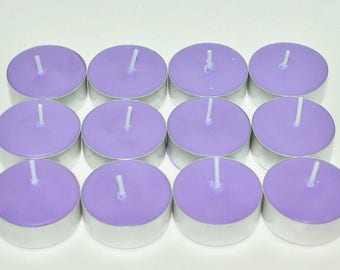 Lavender & Vanilla Scented Soy Tealight Candles Pick A Pack