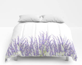 Lavender Duvet Cover or Comforter, For Twin, Twin XL, Full, Queen & King Size Duvet Inserts, Bedroom, Lavender, Relax, Gift, Christmas, Dorm