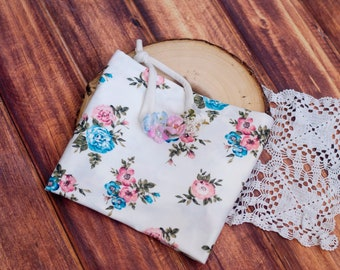 RTS, Jersey Wrap and Tieback Set, Stretch wrap, Floral wrap set, Newborn, Baby wrap, Ivory, Pink, Blue, Stretch, Photo Props