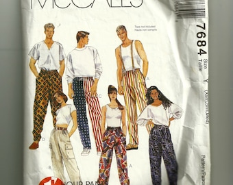 McCall's Misses' and Men's Pull-On Pants Pattern 7684