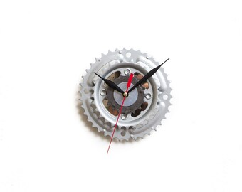 Unique Bike Wall Clock - Industrial Wall Clock - Steampunk Wall Clock - Unique Wall Clock - Small Wall Clock - Bicycle Clock - Cyclist Gift