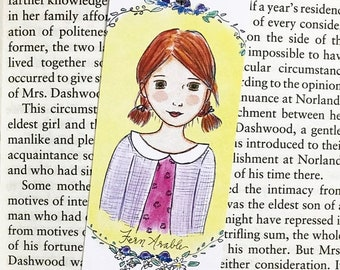 ON SALE Fern Arable Bookmark - Charlotte's Web - bookmark - handmade