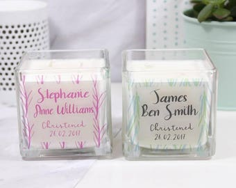Christening Scented Candle - Baptism Candle - Personalised Christening Candle - Naming Day Candle - Personalised Candle - Scented Candle