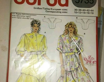 Vintage clothing sewing pattern