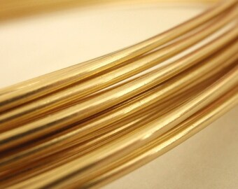 6 gauge Rich Low Brass Wire 1 Foot  .3 Meter - Merlin's Gold - 100% Guarantee