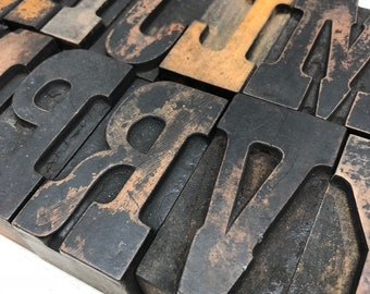 "Large Serif WOODEN Letterpress Printing blocks 2 5/16"" antique - Your Choice- wood letterpress type - vintage wood letter - wood alphabet"