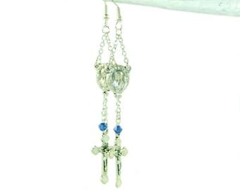 Mary and Angels, Catholic Earrings - Faith & Fashion Handmade Jewelry