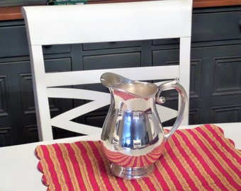 Silver Plate Pitcher by Gorham Large 4 Pint Pitcher Silverplate Water Pitcher Ice Pitcher