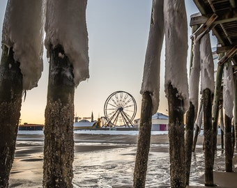 Old Orchard Beach in Winter