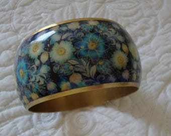 Blue and Copper Bangle