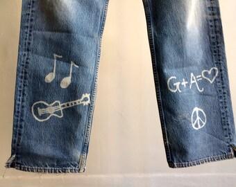 The Vintage Groovy Hippie Levi 501 Jeans