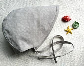 Bonnet.Baby Bonnet.Brimmed Bonnet.Beach Bonnet.Sun Bonnet.Handmade Bonnet.Grey Bonnet.Gender Neutral Bonnet