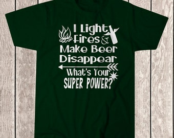 Camping Superpower Tee