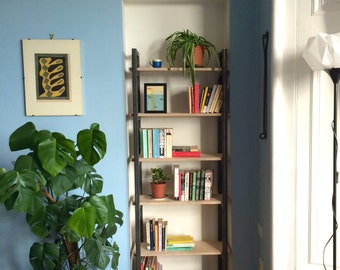 Steel and Plywood Bookshelf
