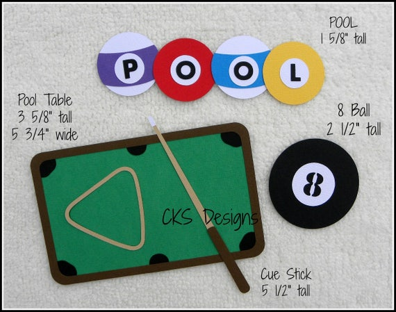 Die Cut Pool Table Billiards Premade Paper Piecing Embellishment For Card  Making Scrapbook Or Paper Crafts From CKSDieCutDesigns On Etsy Studio